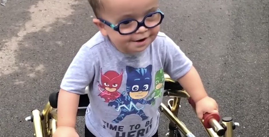 People's Voice / Webby Award Winner - Toddler with spina bifida walks for 1st time