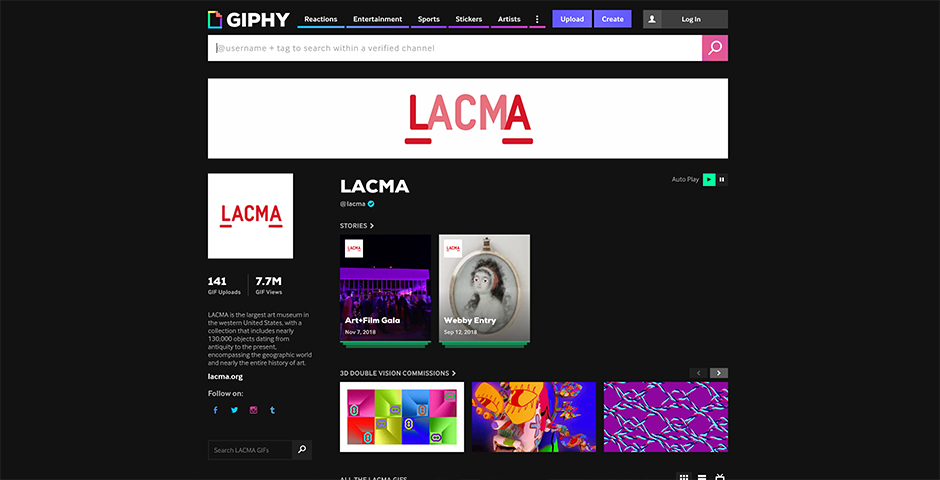Nominee - LACMA's GIPHY page