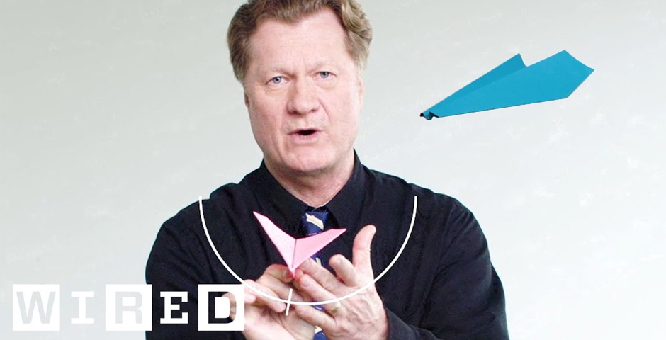 Nominee - How This Guy Folds and Flies World Record Paper Airplanes | WIRED