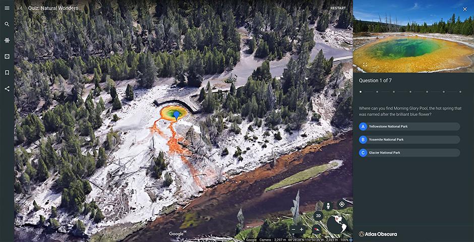 Nominee - Google Earth Voyager: Atlas Obscura / Quiz: Natural Wonders