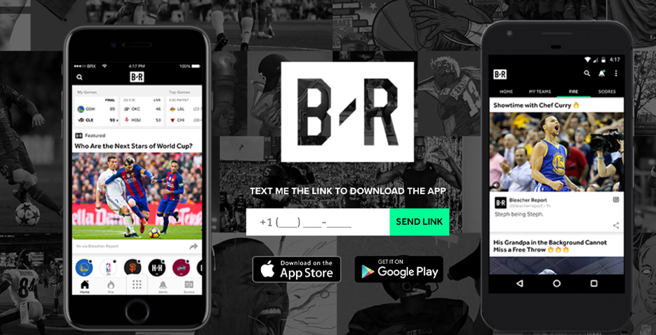 Webby Award Winner - The Bleacher Report App