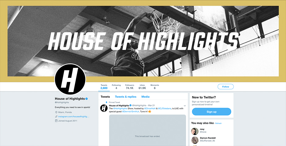 Nominee - House of Highlights Next-Gen Sports Center for Social
