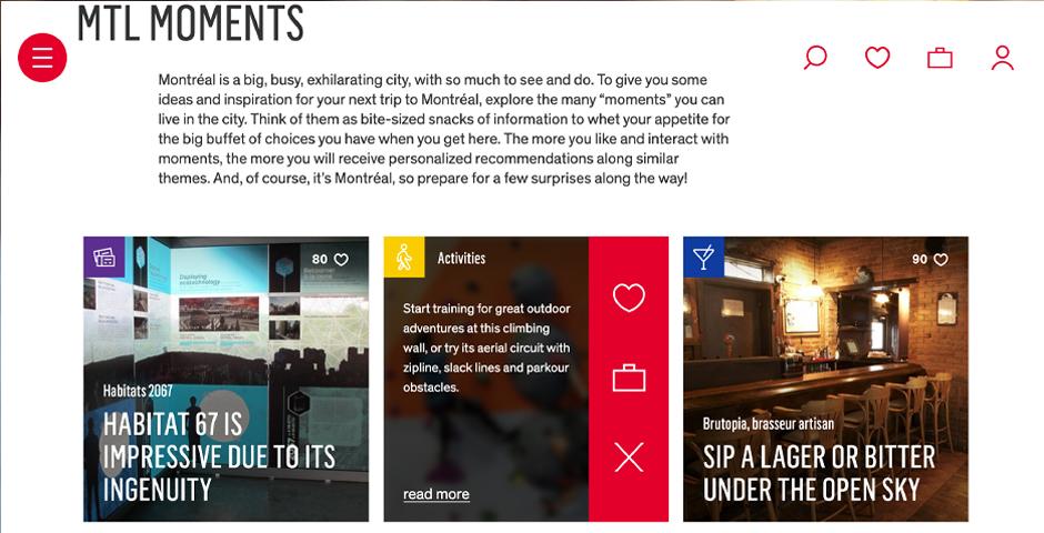 Nominee - Tourisme Montréal – Apps