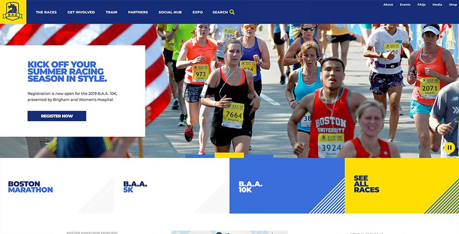 Webby Award Nominee - Boston Athletic Association Website