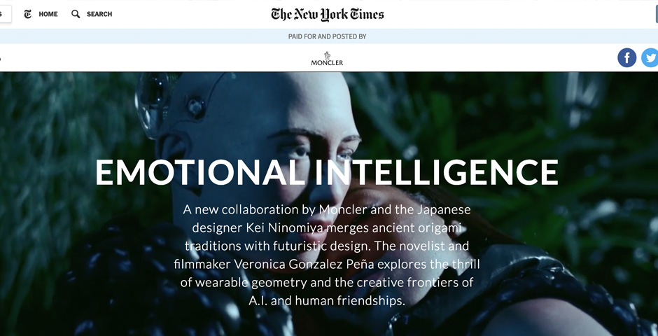 Nominee - Moncler | Emotional Intelligence