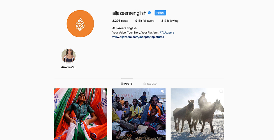Nominee - Al Jazeera English Instagram Account
