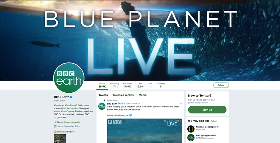 Nominee - Our Blue Planet – BBC Earth & OceanX