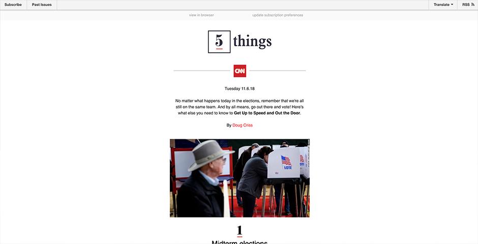 People's Voice / Webby Award Winner - CNN's 5 Things