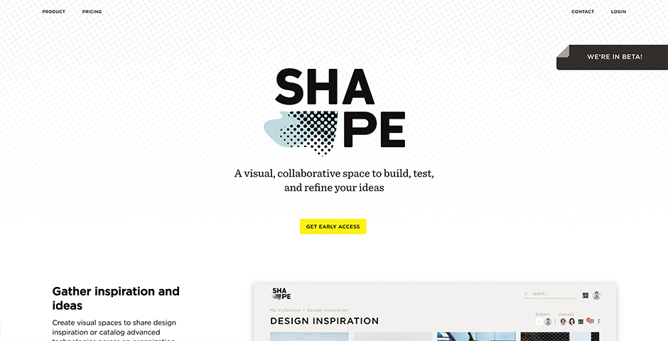Nominee - Shape by IDEO: A visual, collaborative workspace to build, test, and refine your ideas