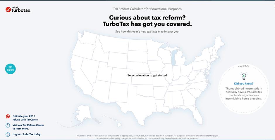 People's Voice / Webby Award Winner - TurboTax Tax Reform Calculator