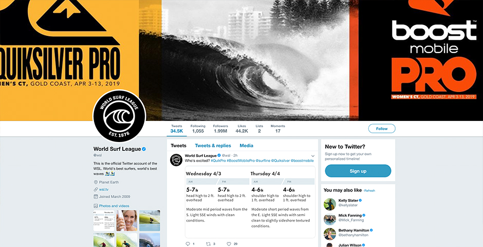 Nominee - World Surf League Social