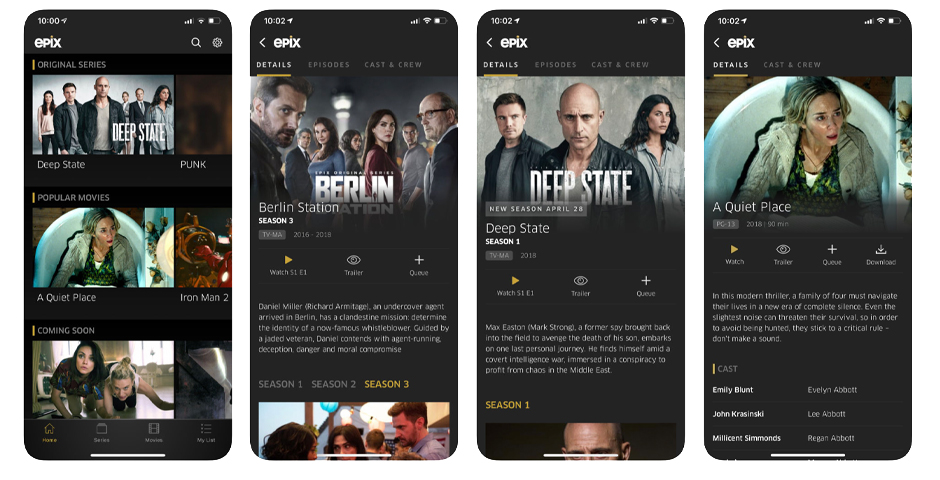 EPIX – Stream, Download, or Cast 1000s of Movies and