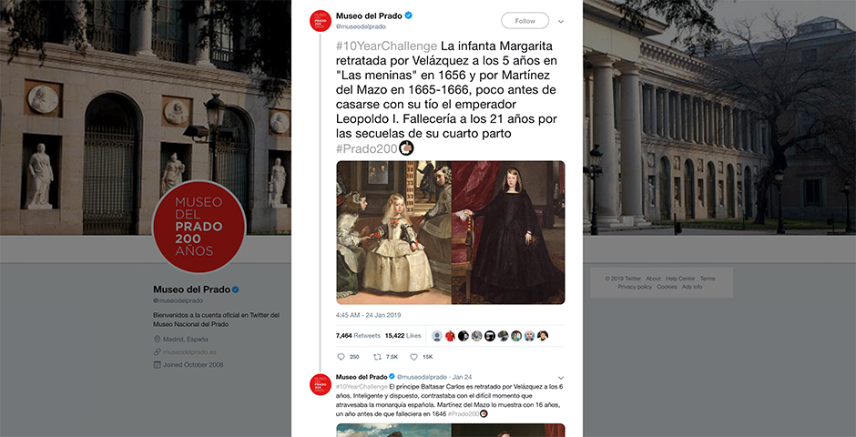 People's Voice - #10YearChallenge in the Museo del Prado