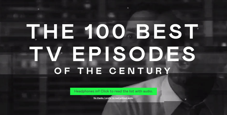 Webby Award Winner - The Best TV Episodes of the Century