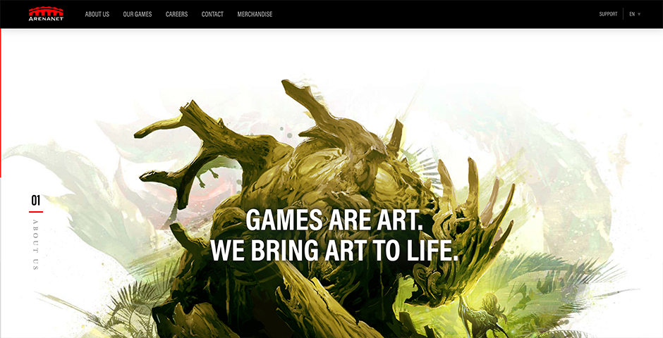 Nominee - ArenaNet Corporate Homepage