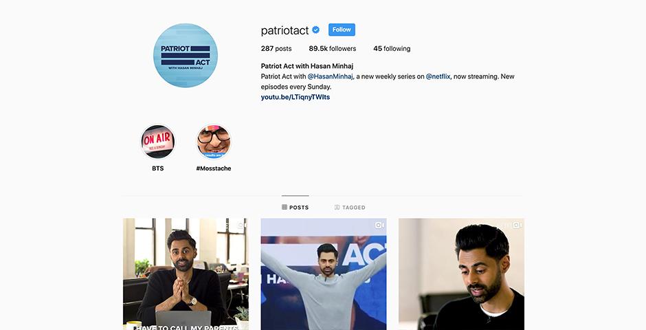 Webby Award Nominee - Patriot Act with Hasan Minhaj