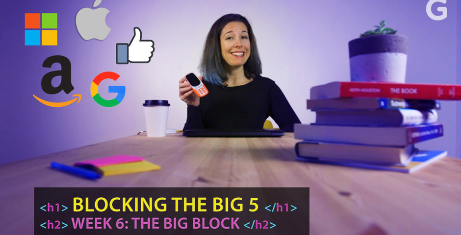Nominee - Blocking The Big Five Tech Giants