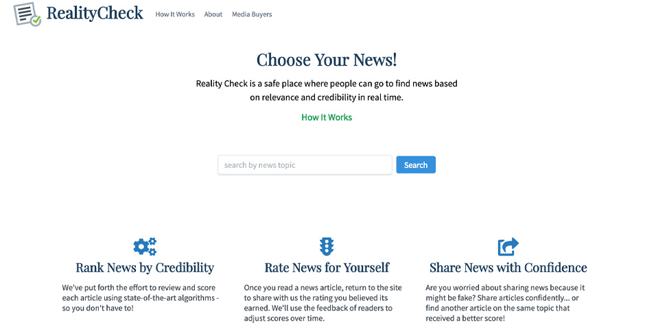 Nominee - Reality Check: Choose Your News
