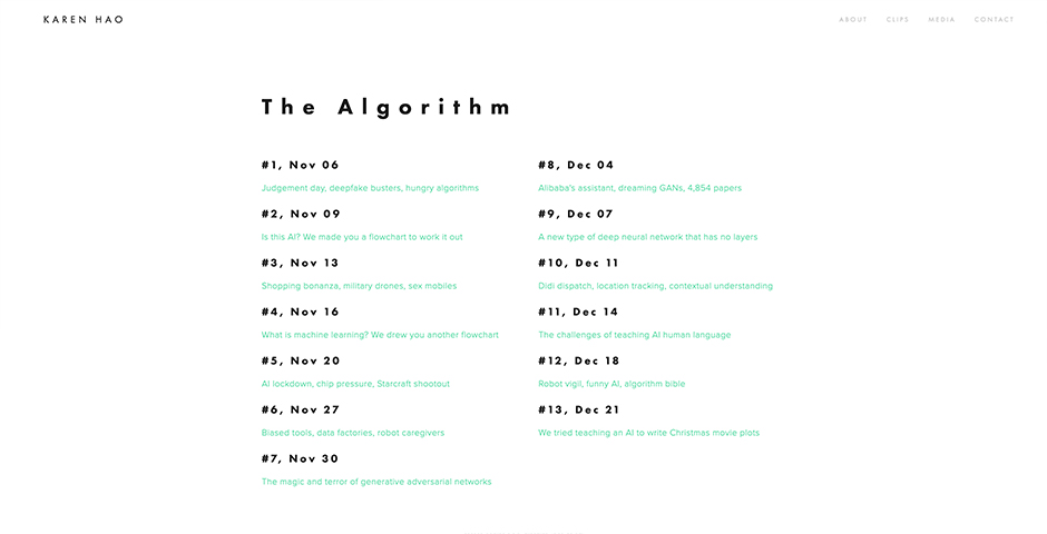 Nominee - The Algorithm
