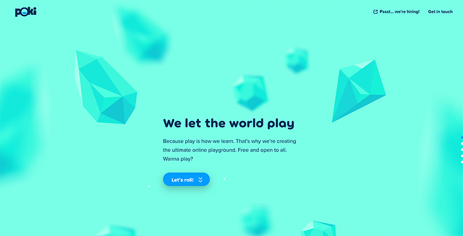 Webby Award Winner - Poki company website