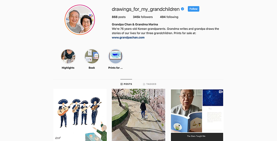 People's Voice / Webby Award Winner - Drawings For My Grandchildren