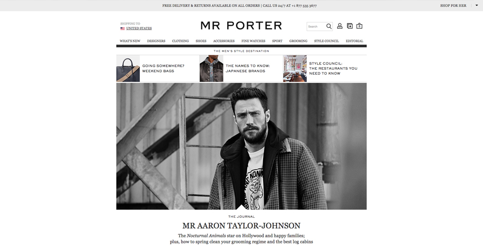 Webby Award Nominee - MR PORTER