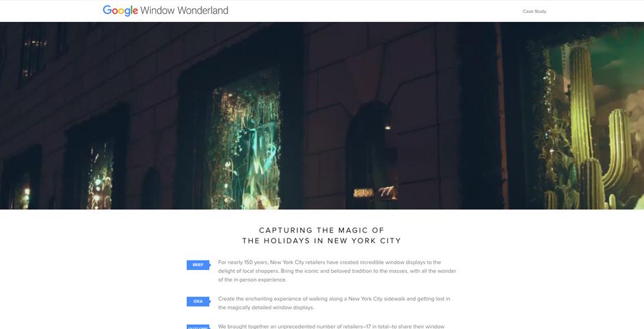 Honoree - Window Wonderland / Google Shopping