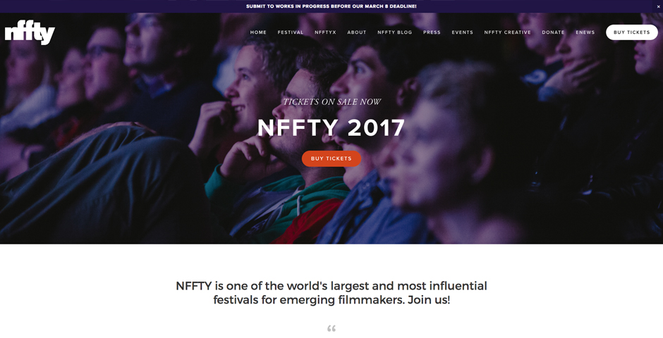 Webby Award Nominee - National Film Festival for Talented Youth (NFFTY)