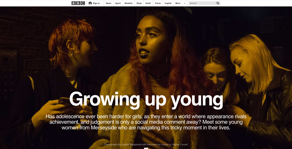 Webby Award Nominee - BBC News - Growing Up Young