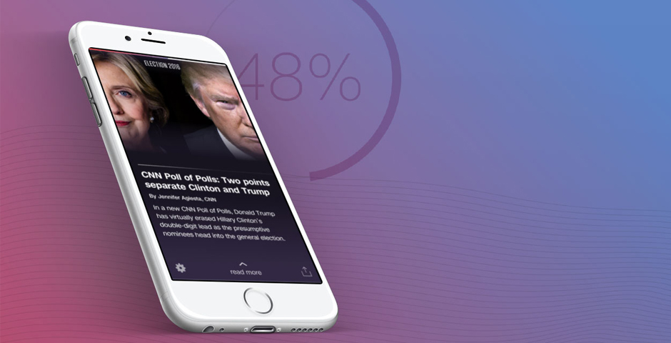 Nominee - CNN Politics App built with CA Technologies