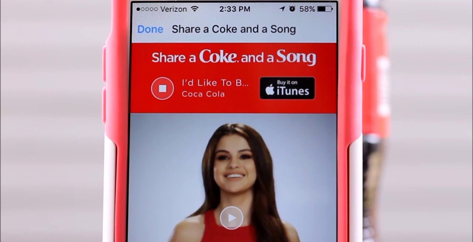 Honoree - Share a Coke and a Song