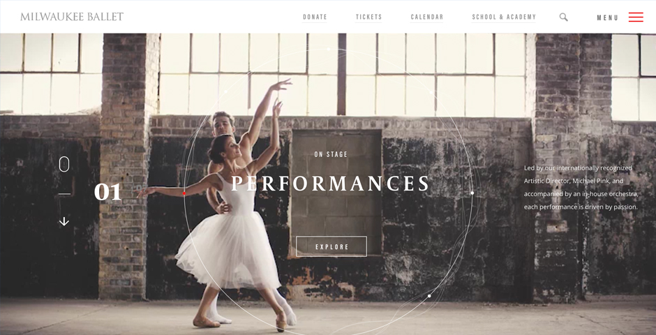 People's Voice / Webby Award Winner - Milwaukee Ballet