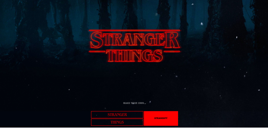 People's Voice - Stranger Things Type Generator
