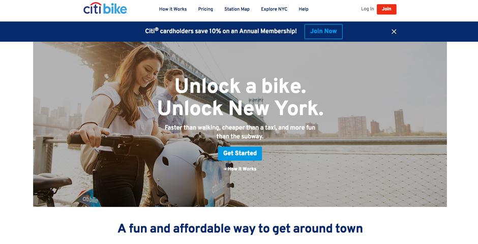 Honoree - Motivate Co. Bikeshare Design System (citibikenyc.com, biketownpdx.com, thehubway.com, etc.)