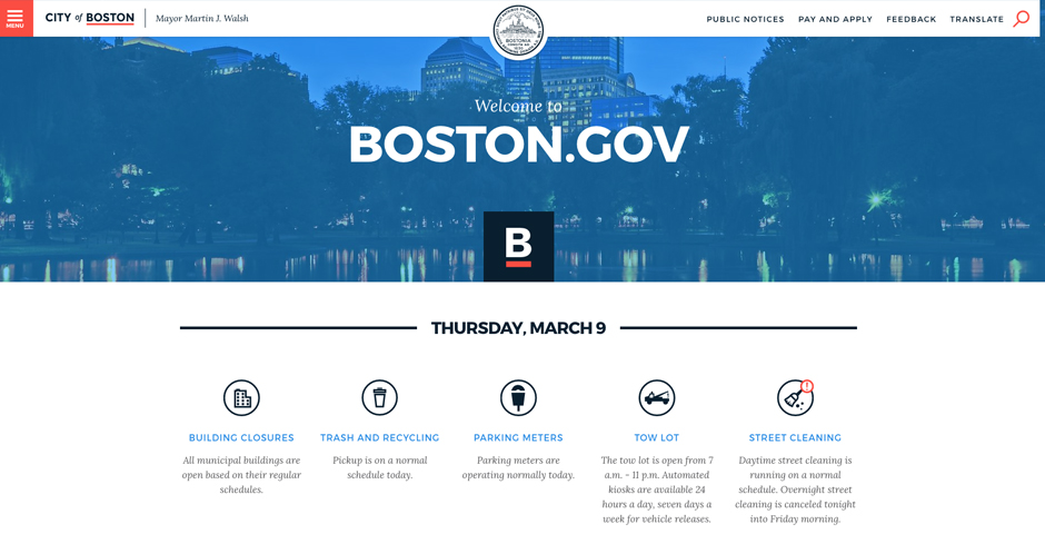 Honoree - Launching a redesigned Boston.gov