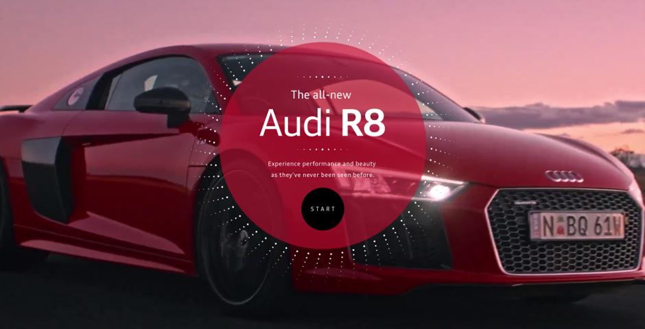 Webby Award Nominee - Audi R8 Blink