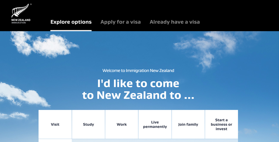 Nominee - NZ Immigration Website