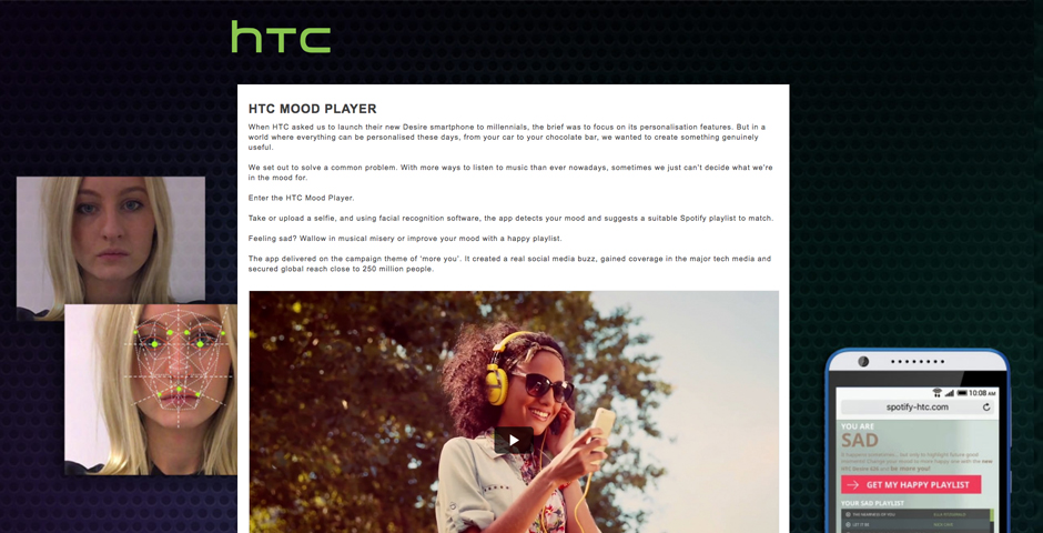 Honoree - HTC Mood Player