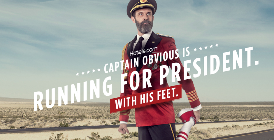 Nominee - Captain Obvious Runs for President