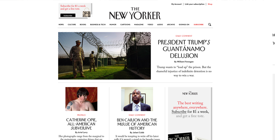 People's Voice / Webby Award Winner - The New Yorker