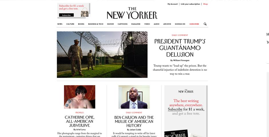 People's Voice / Webby Award Winner - The New Yorker