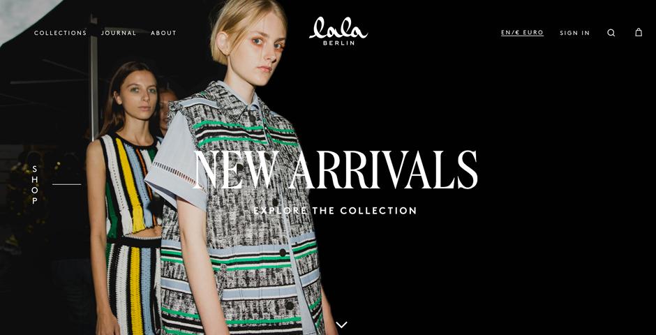 Honoree - lala Berlin Website Re-Design
