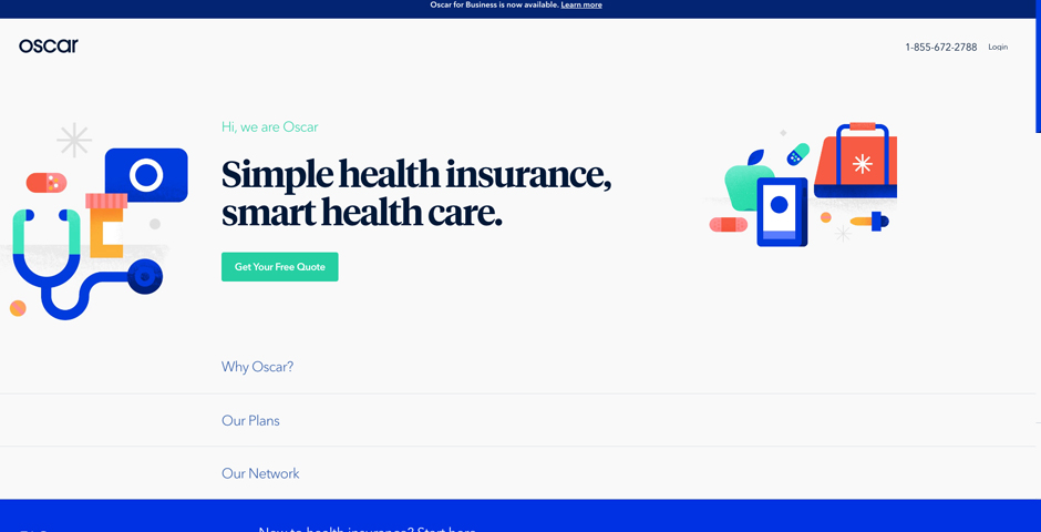 Nominee - Oscar Health Insurance Sign Up