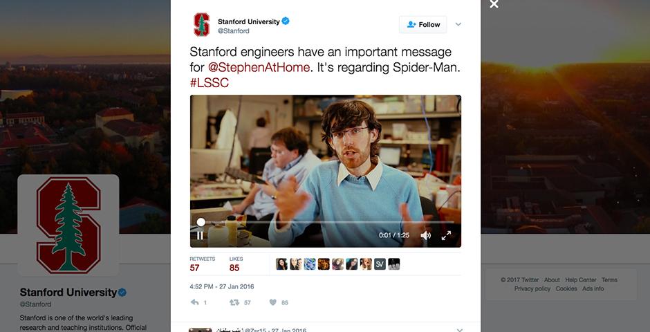 Nominee - Stanford Scientists Save Spider-Man