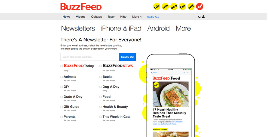 People's Voice - BuzzFeed's Email Newsletters