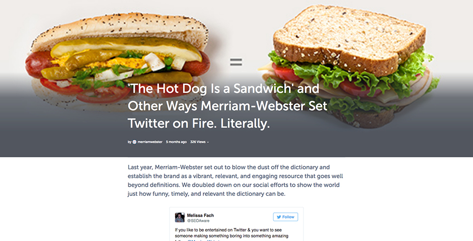 People's Voice / Webby Award Winner - Merriam-Webster Redefines Twitter