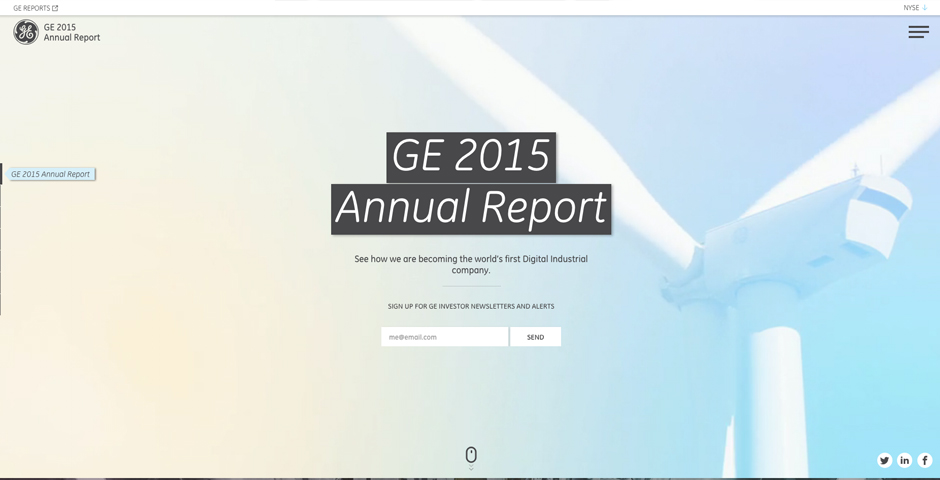 Honoree - GE Annual Report 2015