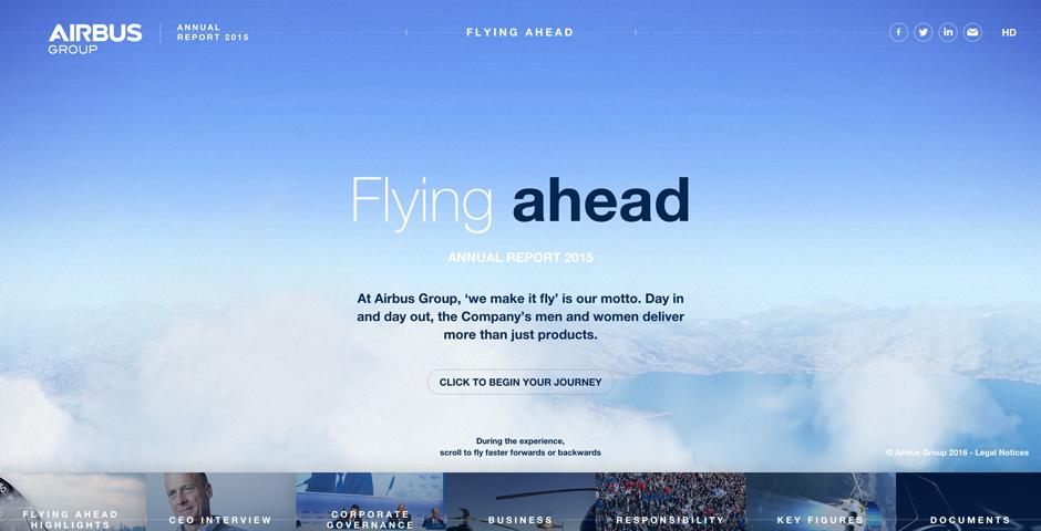 Webby Award Winner - 2015 Digital Annual Report Airbus Group