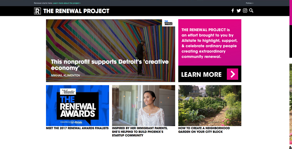 Honoree - The Renewal Project by Allstate