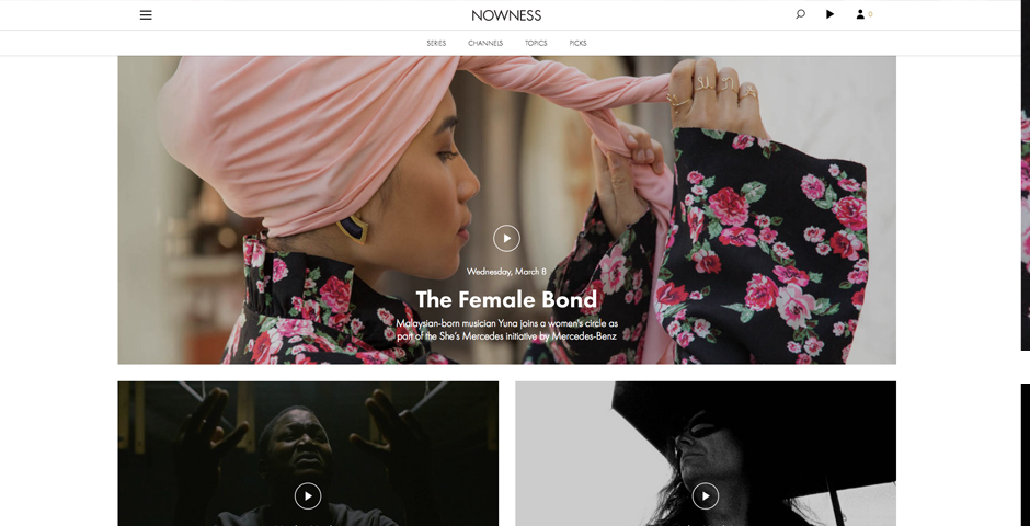 Webby Award Winner - NOWNESS